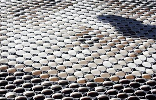 Mona Lisa of 3604 Cups of Coffee