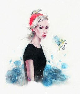 Maria Kuzmenkova, beautiful Russian photographer. Watercolors by artist Rebus