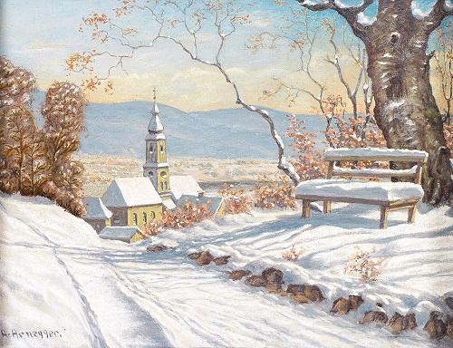 Painting by Austrian artist Alois Arnegger