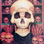 Skull and peasant woman