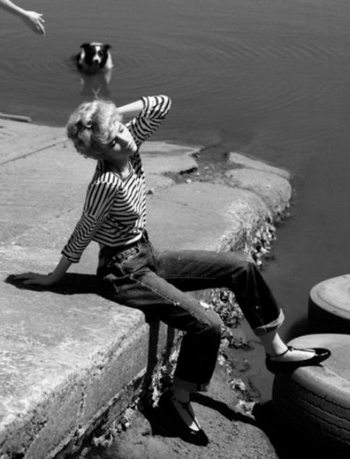 Black and white fashion photography by Liz Ham