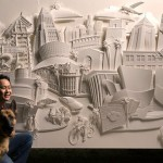 Paper sculptures by American artist Jeff Nishinaka