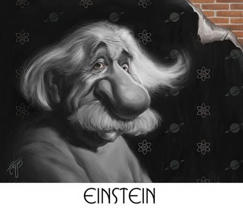 Caricature of Albert Eistein