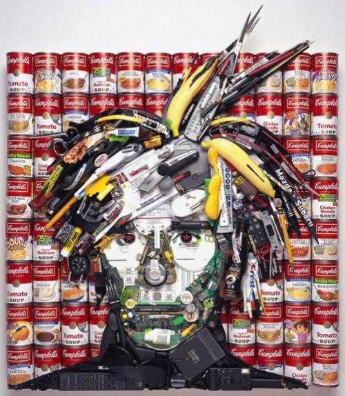 Andy Warhol. Jason Mecier mosaic