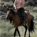 Riding a horse, Vladimir Putin