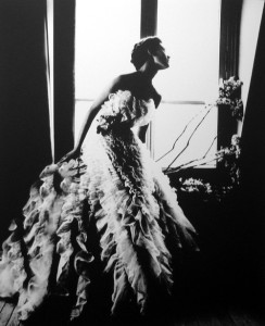 Barbara Mullen in a Christian Dior Dress, Paris. Harper's Bazaar, 1949