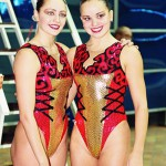 Duo of synchronized swimmers - Anastasia Ermakova and Anastasia Davydova