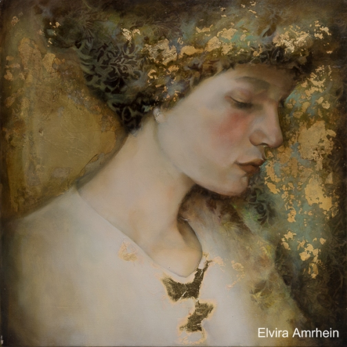 Autumn muse. Beautiful paintings by German born artist Elvira Amrhein