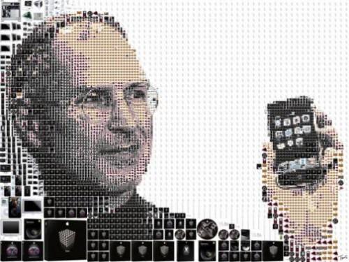Calling Steve Jobs. Artwork by Greek designer Charis Tsevis