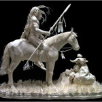 Paper Sculpture by American artists Allen and Patty Eckman