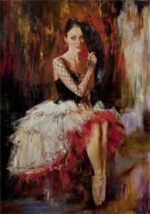 Carmelita, painting by Russian realist artist Anna Vinogradova