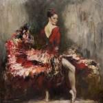 Carmencita, painting by Russian realist artist Anna Vinogradova