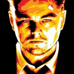 Famous Hollywood actor Leonardo DiCaprio. Celebrity portraits by American vector artist Mel Marcelo