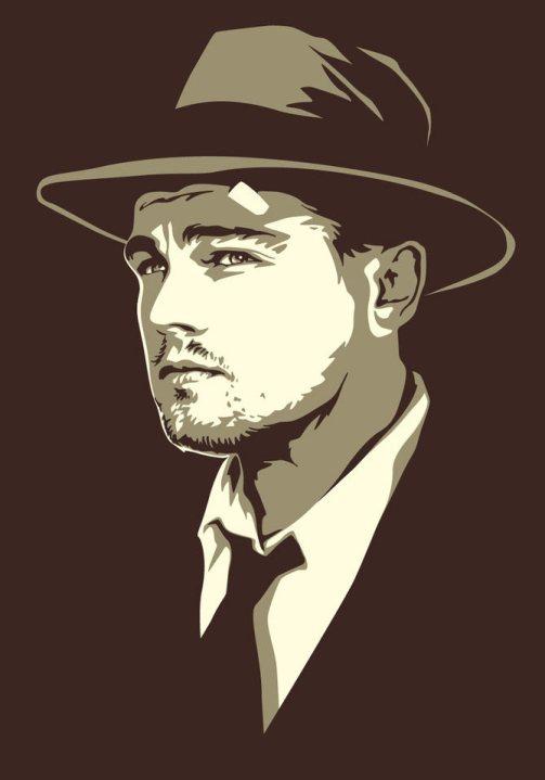Leonardo Dicaprio. Celebrity portraits by American vector artist Mel Marcelo