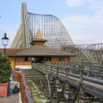 Colossus, the tallest wooden roller coaster in the world