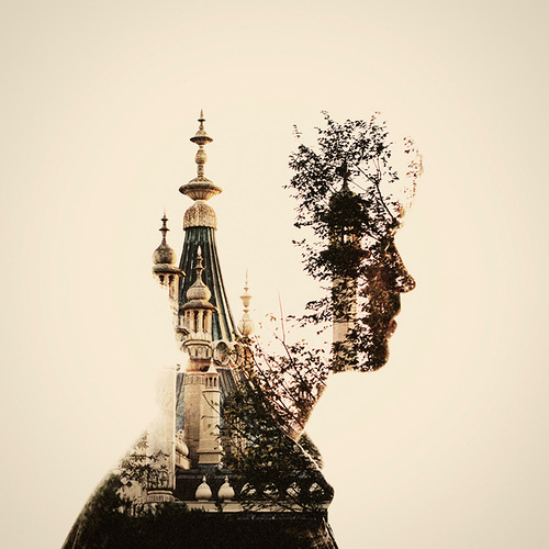 double exposure photo by British photographer Dan Mountford