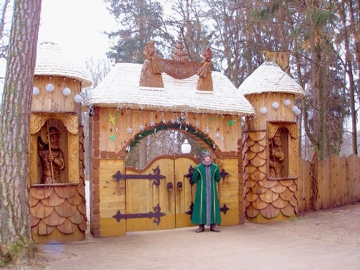 The official residence of Russian Santa, located in the city of Veliki Ustiug, the Russian Federation. Father Frost can wear blue, red, silver white, or even golden