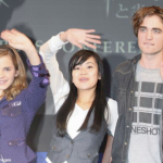 Emma, Katie Leung and Robert Pattinson promoting Harry Potter and The Goblet of Fire in Tokyo, Japan