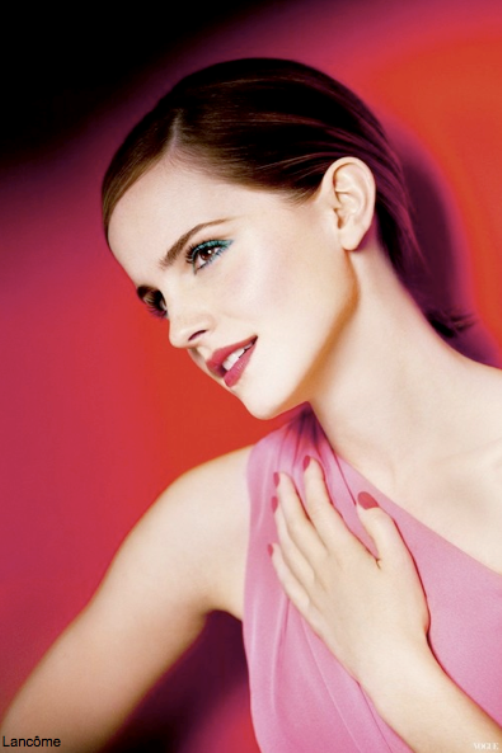 Emma posing for the new 2013 spring Lancôme In Love collection.