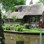 The town of Giethoorn, Holland