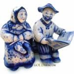 Beautiful Gzhel Russian style of ceramics
