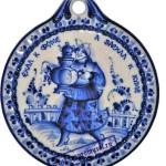 Floral motif and blue color - folk crafts Gzhel