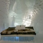 Icehotel in the village Jukkasjarvi, Sweden