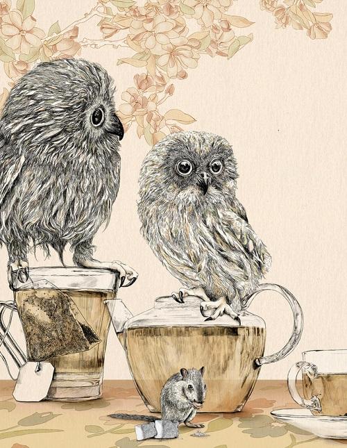 Surreal Illustration by Israeli artist Gabriella Barouch