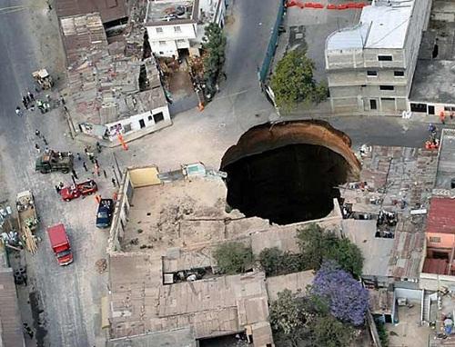 Karst collapse in Guatemala