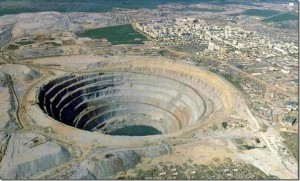 Kimberlite pipe Big Hole, South Africa