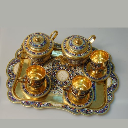 Tea set, Kubachi jewelry