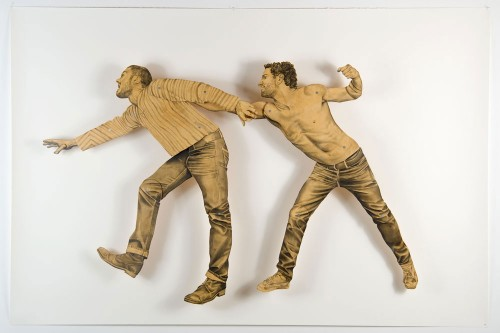 Life size Kinetic paper dolls made by Brooklyn based artist Claire Oswalt