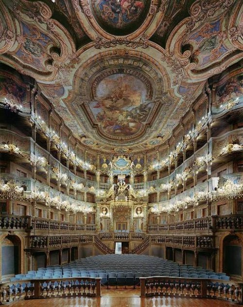 Margravial Opera House, Bayreuth, Germany. Photo by David Leventi. Stunning Opera Houses
