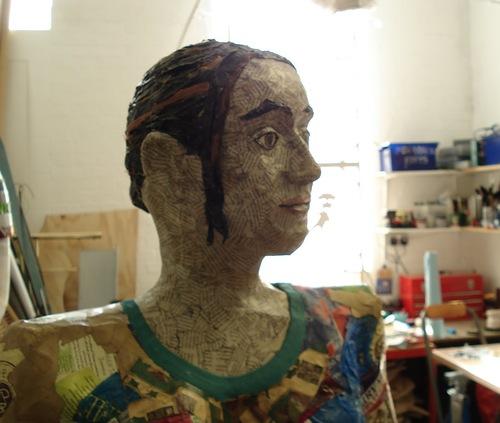 Michelle Reader - self portrait sculpture