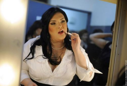 Barannes, the winner of the Israeli Miss Large beauty pageant 'Fat and Beautiful'