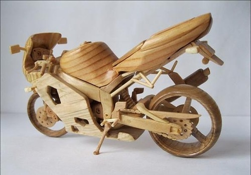 Wooden Mini Motorcycle
