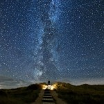 The stream of debris called the Perseid. Nature and space by German photographer Thomas Zimmer