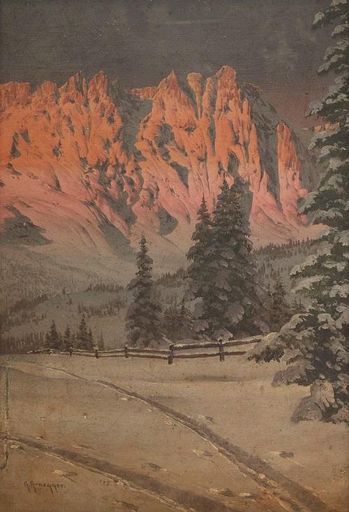 Austrian painter Alois Arnegger