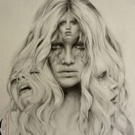 Gorgeous girl's Pencil portrait drawn by British artist Abbey Watkins