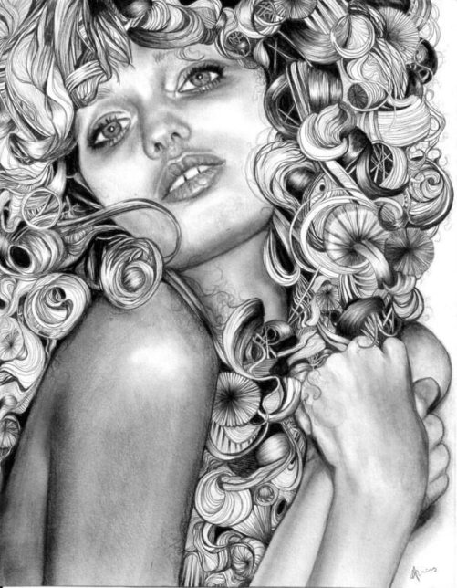 Gorgeous girl's Pencil portrait drawn by British artist Abbey Watkins