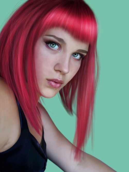 portrait created in the technique of digital painting by American artist Alice Newberry