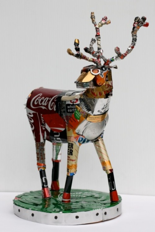 Michelle Reader Recycled sculptures