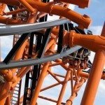 Closeup Roller coaster