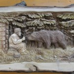Woodcarver Alexander Penteshin