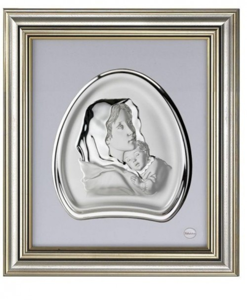Portraits of saints. Silver icons by Italian firm Valenti & Co
