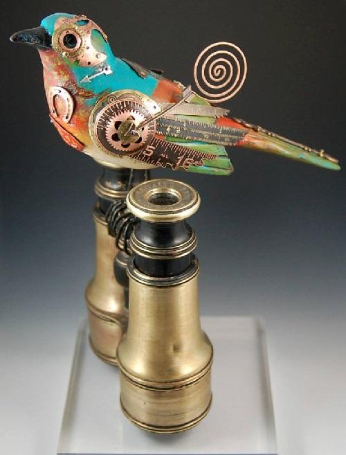 Songbird sculpture by American artists Tori and Jim birds