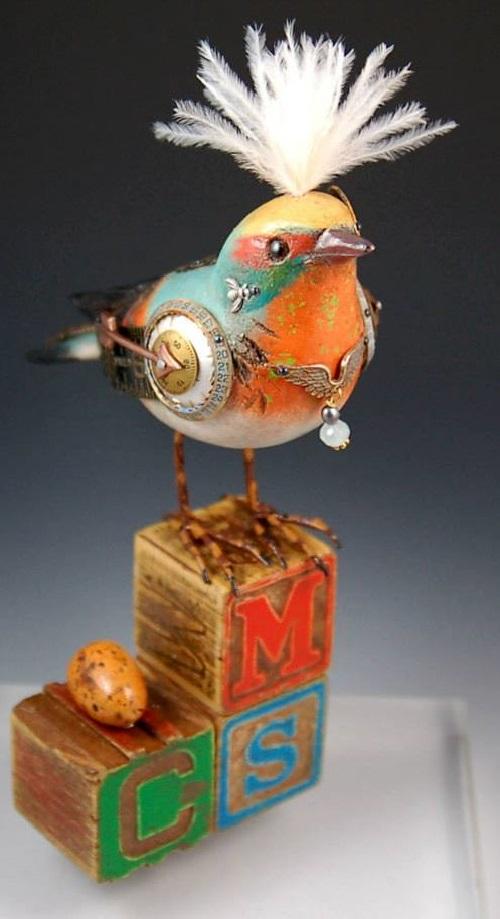 Songbird sculpture by American artists Jim and Tori Mullan