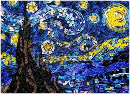 Susan Myers Paper version of Van Gogh's Starry Night