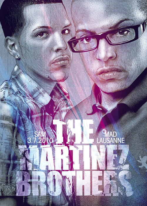 The Martinez brothers. Illustration by Italian artist Alberto Russo