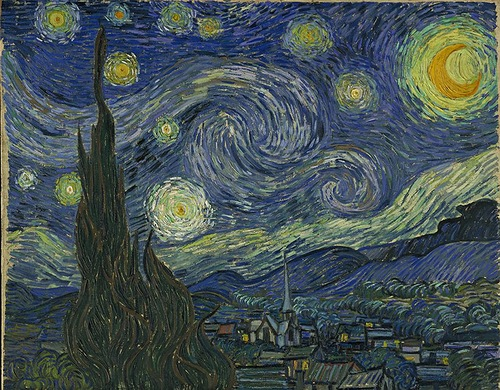 The starry night, 1889, Vincent van Gogh
